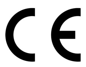 European Conformity CE Mark on white background